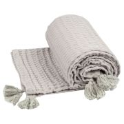 Plaid Nido Coton Gris 100x140 - Nattiot
