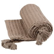 Plaid Nido Coton Taupe 100x140 - Nattiot