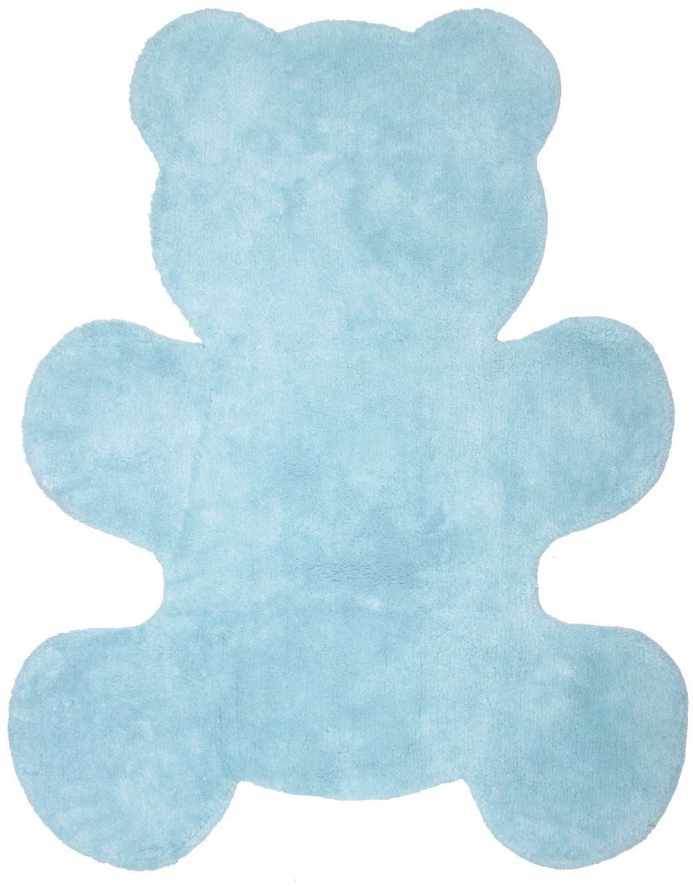 tapis little teddy forme ourson bleu ciel coton nattiot. Black Bedroom Furniture Sets. Home Design Ideas