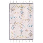 Tapis enfant Milko tufté machine coton coloris multicolore 100x160 - Nattiot
