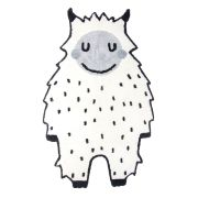 Tapis enfant coton Little Bigfoot noir/blanc 90x140 - Nattiot