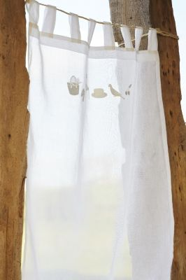 Brise bise brod organdi blanc farniente 45x65 sylvie thiriez - Rideaux sylvie thiriez ...