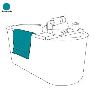 drap de bain uni emeraude 100x150 linge de maison. Black Bedroom Furniture Sets. Home Design Ideas