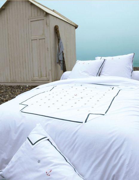 Drap de lit la marine 180x290 linge de maison - Difference entre drap plat et housse de couette ...