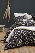 Drap housse May percale noir 160x200 - Sylvie Thiriez