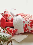 Drap housse Poppies percale 90x190 - Sylvie Thiriez