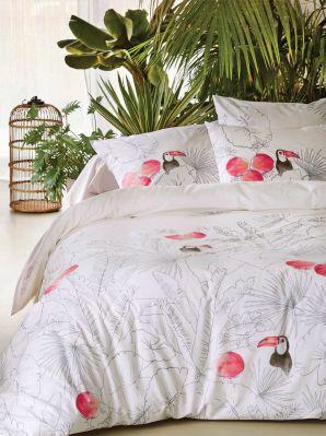 drap housse rio verde percale 90x190 linge de maison. Black Bedroom Furniture Sets. Home Design Ideas