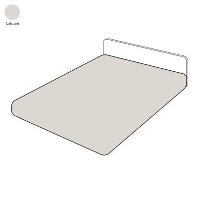 drap housse uni sylvie thiriez calcium 140x190 linge de maison. Black Bedroom Furniture Sets. Home Design Ideas