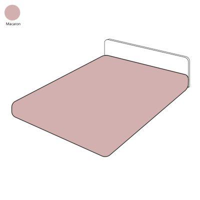 drap housse uni sylvie thiriez macaron 80x200 linge de maison. Black Bedroom Furniture Sets. Home Design Ideas