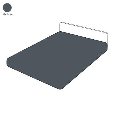 drap housse uni sylvie thiriez manhattan 140x190 linge de maison. Black Bedroom Furniture Sets. Home Design Ideas