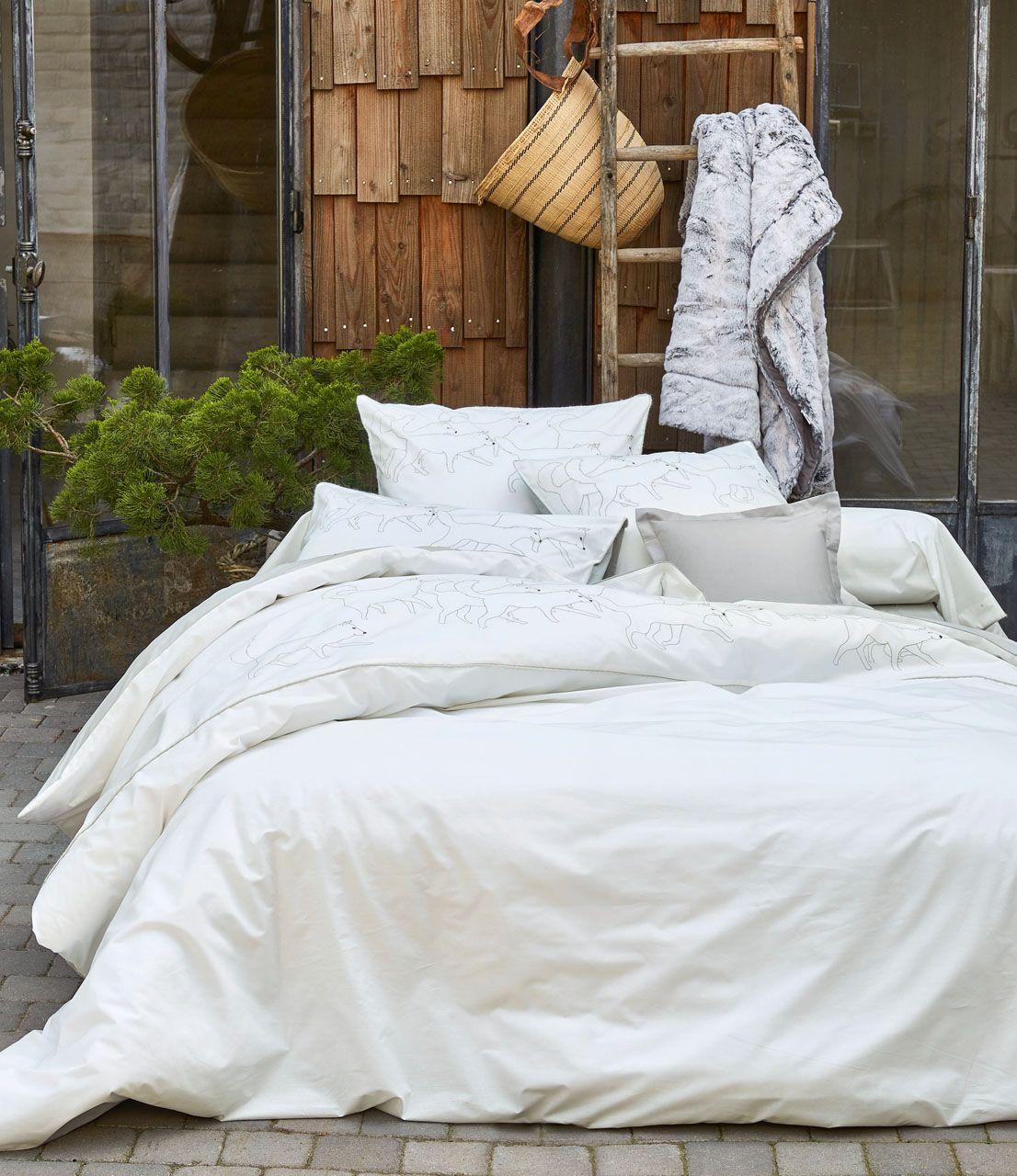 drap housse uni trappeur gris glacier percale 90x190 sylvie thiriez. Black Bedroom Furniture Sets. Home Design Ideas