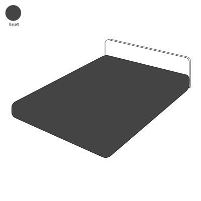 drap housse uni basalt percale 90x200 linge de maison. Black Bedroom Furniture Sets. Home Design Ideas