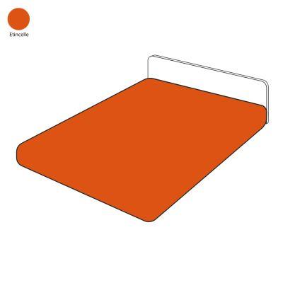drap housse uni tincelle percale 90x200 linge de maison. Black Bedroom Furniture Sets. Home Design Ideas