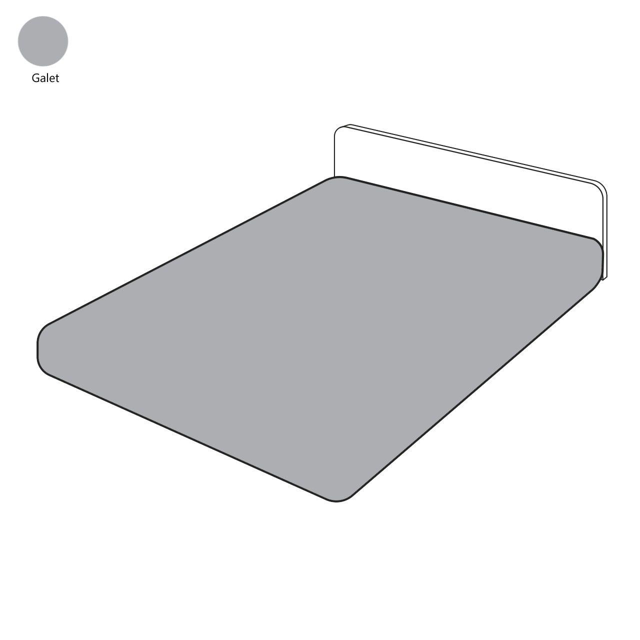 drap housse uni galet percale 140x200 sylvie thiriez. Black Bedroom Furniture Sets. Home Design Ideas
