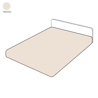 drap housse uni pashmina percale 90x200 linge de maison. Black Bedroom Furniture Sets. Home Design Ideas
