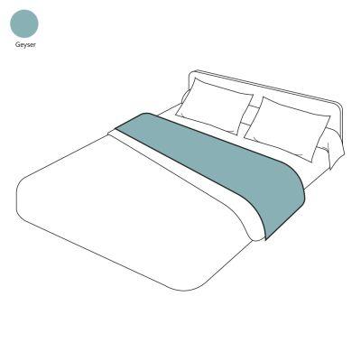 drap plat uni lin lav geyser 270x300 linge de maison. Black Bedroom Furniture Sets. Home Design Ideas