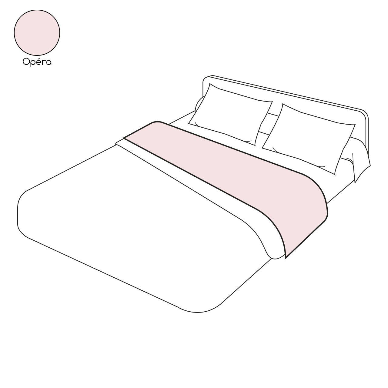 drap plat uni op ra coloris rose pastel percale 270x310. Black Bedroom Furniture Sets. Home Design Ideas