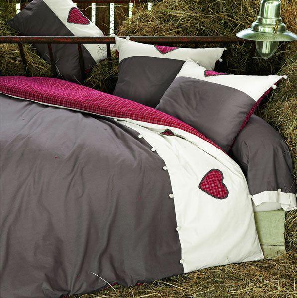 housse de couette honorine 140x200 linge de maison. Black Bedroom Furniture Sets. Home Design Ideas