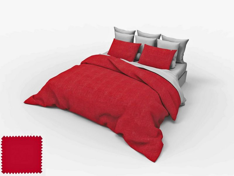 housse de couette sylvie thiriez flanelle baie rouge 240x220. Black Bedroom Furniture Sets. Home Design Ideas