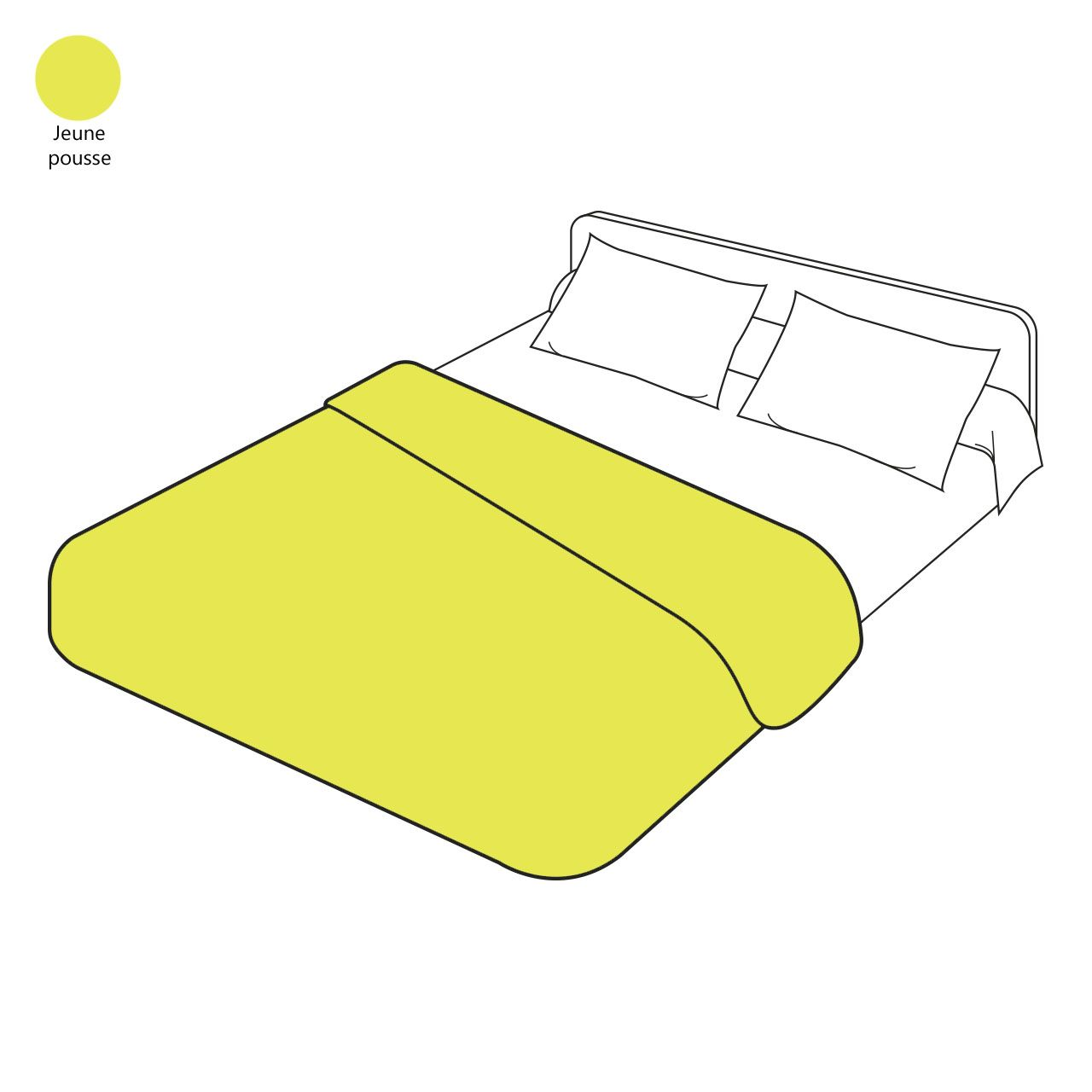 housse de couette uni lin lav jeune pousse 240x220 sylvie thiriez. Black Bedroom Furniture Sets. Home Design Ideas