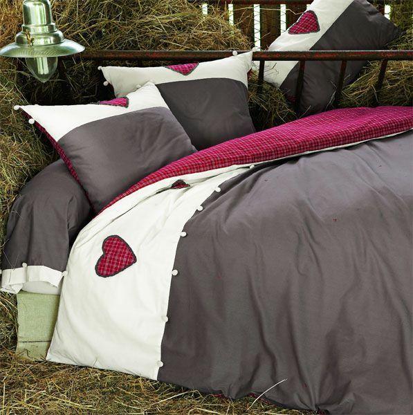 parure de lit honorine linge de maison. Black Bedroom Furniture Sets. Home Design Ideas