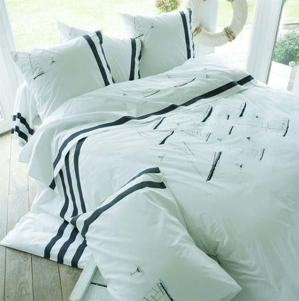 parure de lit percale cap horn sylvie thiriez. Black Bedroom Furniture Sets. Home Design Ideas