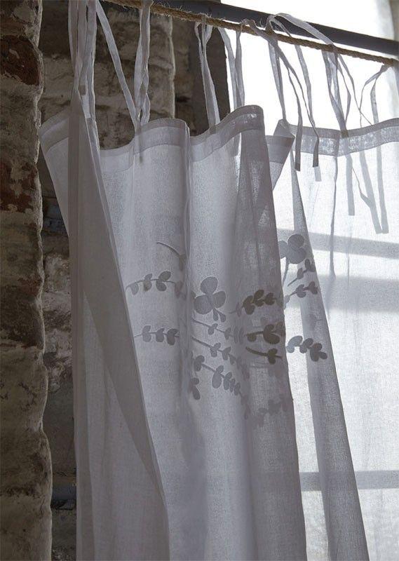 Rideau coton lav dans le vent brise bise 65x95 sylvie thiriez - Rideaux sylvie thiriez ...