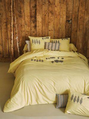 taie d 39 oreiller brod e a l 39 aube percale 50x80 linge de maison. Black Bedroom Furniture Sets. Home Design Ideas