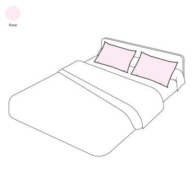 taie d 39 oreiller uni sylvie thiriez rosa 50x70 linge de maison. Black Bedroom Furniture Sets. Home Design Ideas