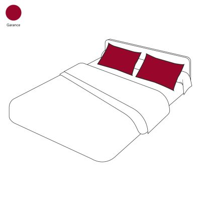 taie d 39 oreiller uni sylvie thiriez garance 50x80 linge de maison. Black Bedroom Furniture Sets. Home Design Ideas