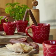 Tasse céramique rouge Make A Wish - Sylvie Thiriez
