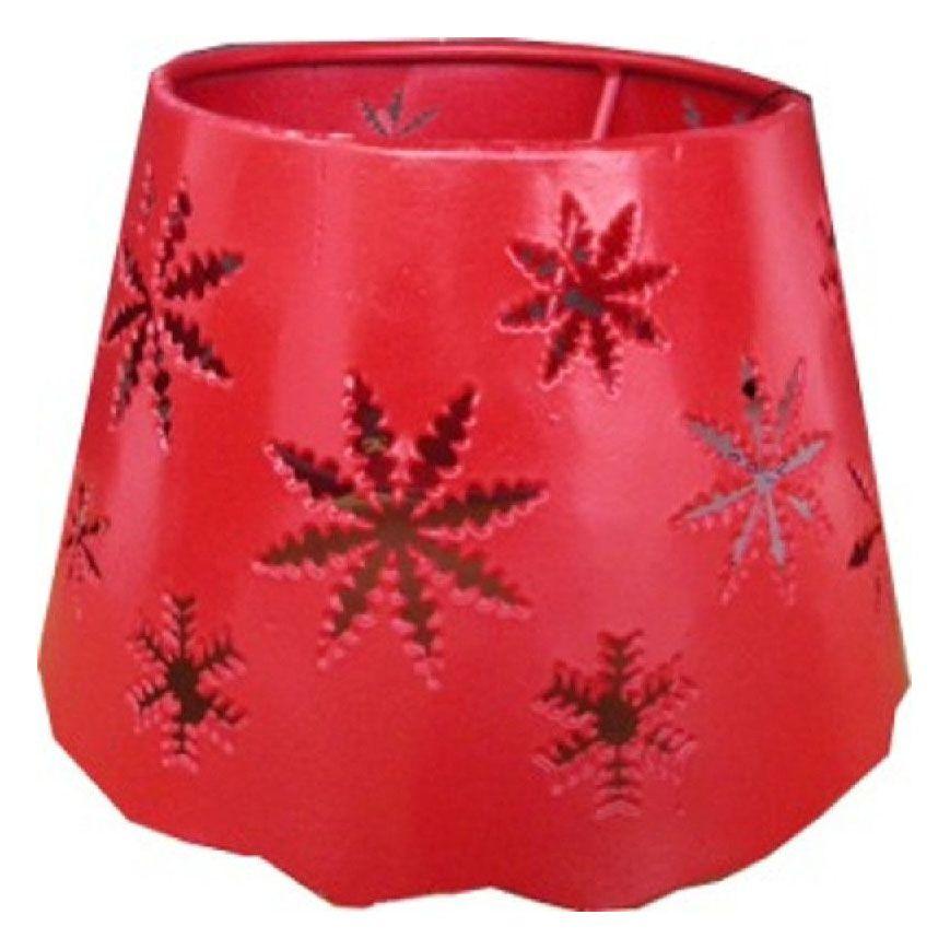 abat jour m tal rouge d coupe flocons pm luminaires. Black Bedroom Furniture Sets. Home Design Ideas