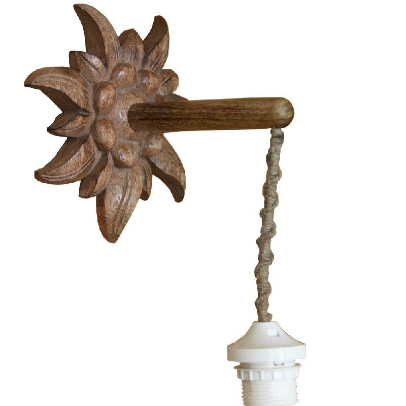 applique edelweiss bois brul les sculpteurs du lac. Black Bedroom Furniture Sets. Home Design Ideas