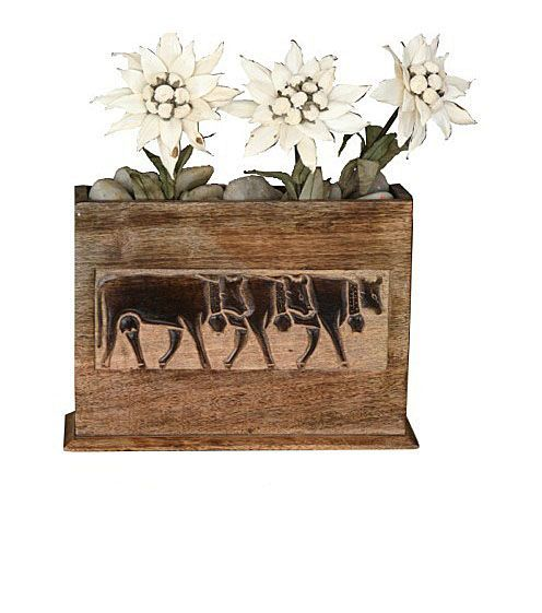 cache pot bois brul 3 vaches rectangulaire d coration. Black Bedroom Furniture Sets. Home Design Ideas