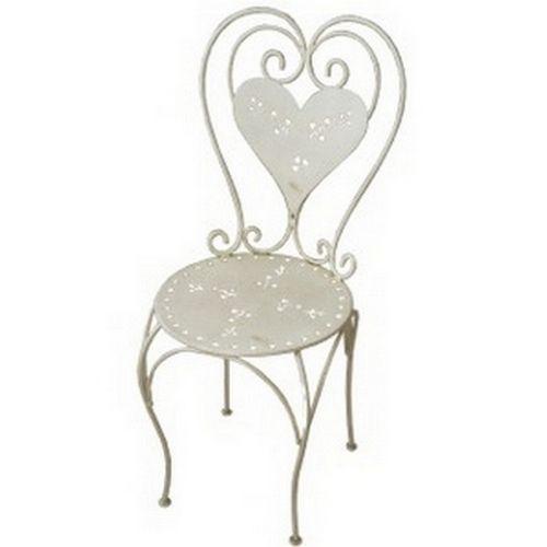 chaise m tal romantique les sculpteurs du lac. Black Bedroom Furniture Sets. Home Design Ideas