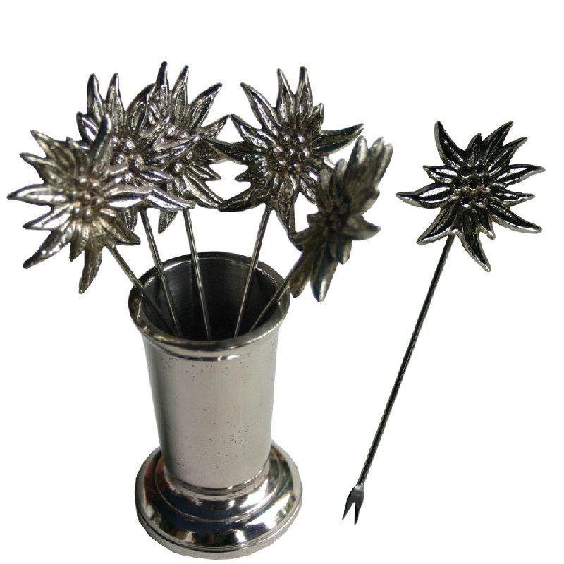 couverts m tal edelweiss fourchettes escargots les. Black Bedroom Furniture Sets. Home Design Ideas