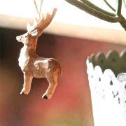 Décoration bois sculpté Petit Cerf à suspendre