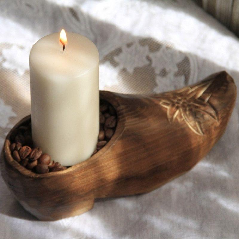 D coration bois sculpt sabot edelweiss les sculpteurs for Decoration bois a peindre