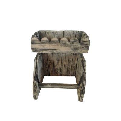 d rouleur de papier toilette bois vieilli forme vaguelettes d coration. Black Bedroom Furniture Sets. Home Design Ideas