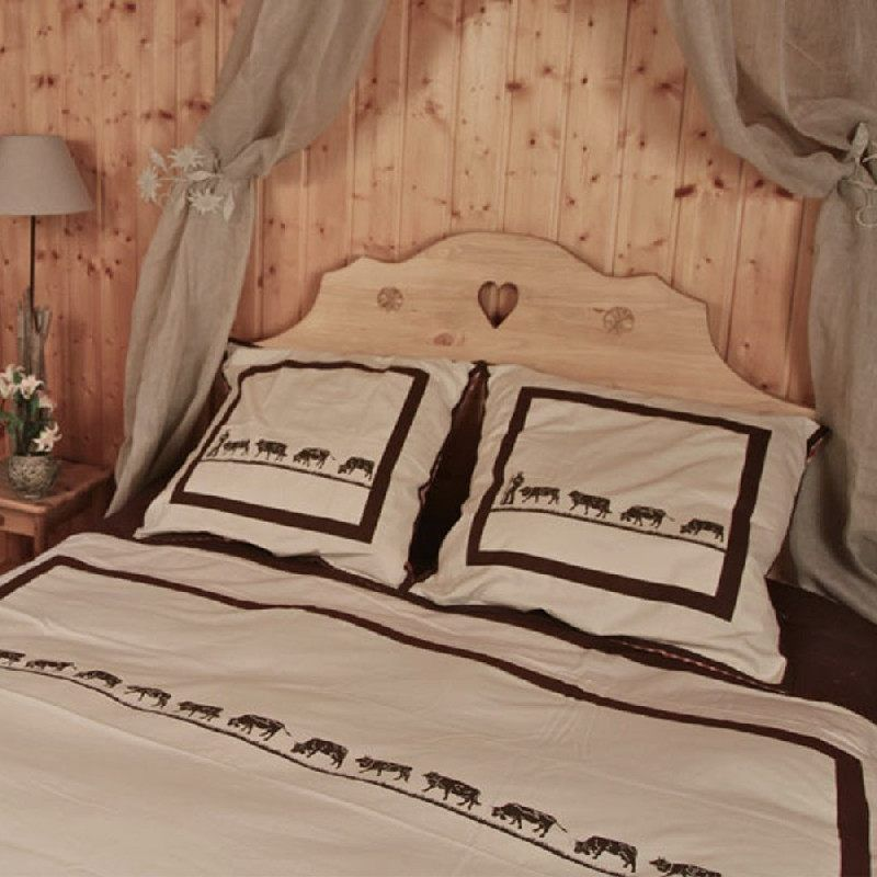drap housse poya coordonn 140x190 linge de maison. Black Bedroom Furniture Sets. Home Design Ideas