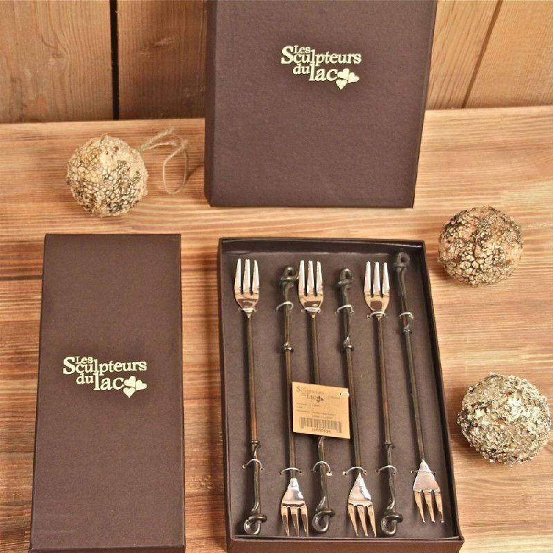 fourchette fondue fer forg sarment de vigne les. Black Bedroom Furniture Sets. Home Design Ideas