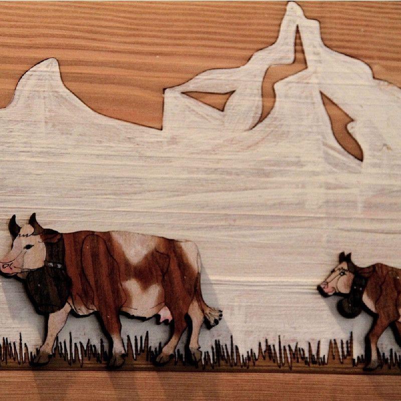 Frise Murale Bois Peint D Coup Poya L 100 Les