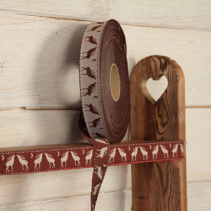 galon r versible lin et chocolat cerfs les sculpteurs du lac. Black Bedroom Furniture Sets. Home Design Ideas
