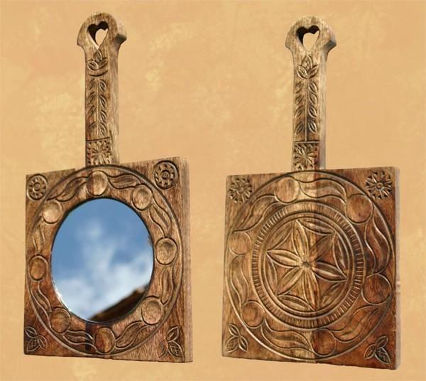 Miroir bois brul pm les sculpteurs du lac - Les sculpteurs du lac ...
