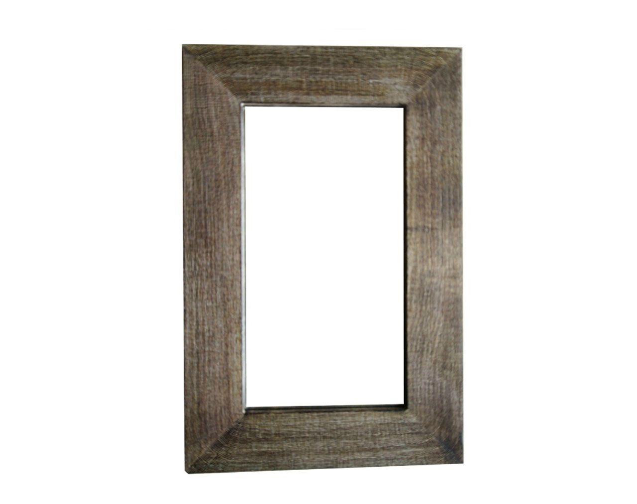 Miroir bois brul rectangulaire 45x70 les sculpteurs du lac for Miroir bois rectangulaire