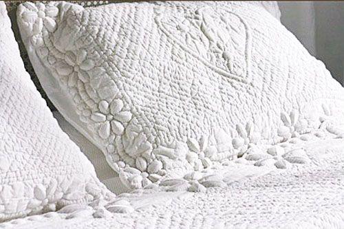 parure de lit boutis coeurs 240x220 linge de maison. Black Bedroom Furniture Sets. Home Design Ideas