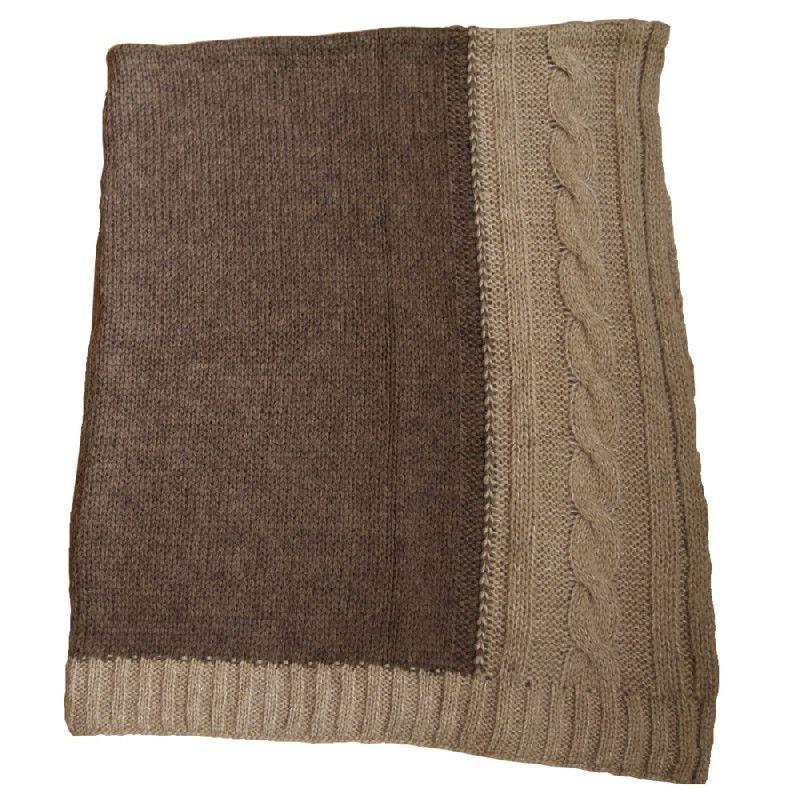 plaid laine bicolore cru et gris les sculpteurs du lac. Black Bedroom Furniture Sets. Home Design Ideas