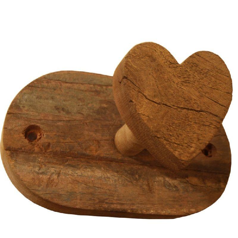 porte manteau bois recycl 1 coeur les sculpteurs du lac. Black Bedroom Furniture Sets. Home Design Ideas