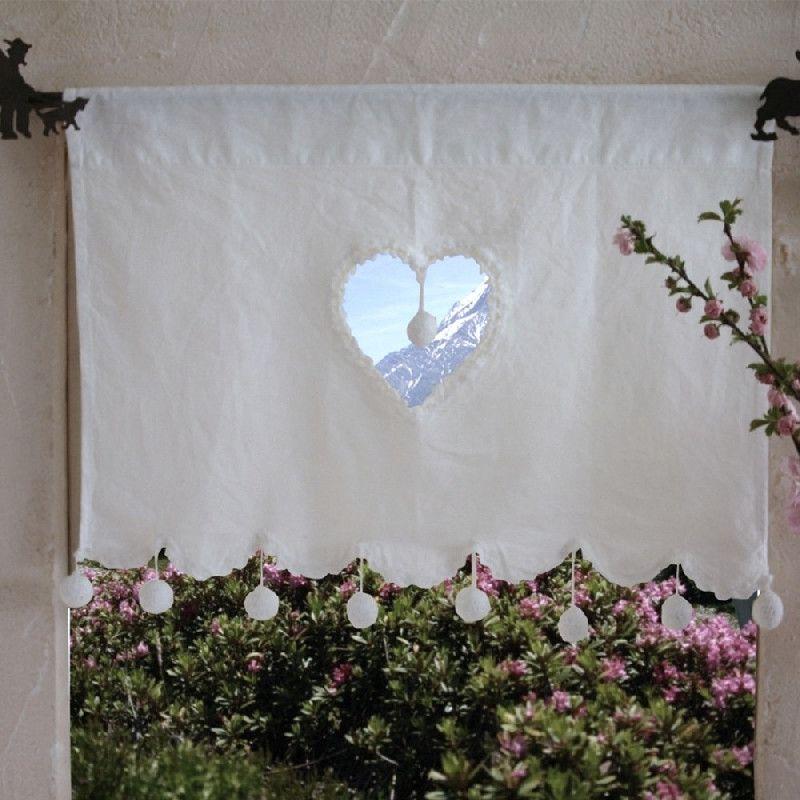 stunning rideau coeur lin gallery. Black Bedroom Furniture Sets. Home Design Ideas