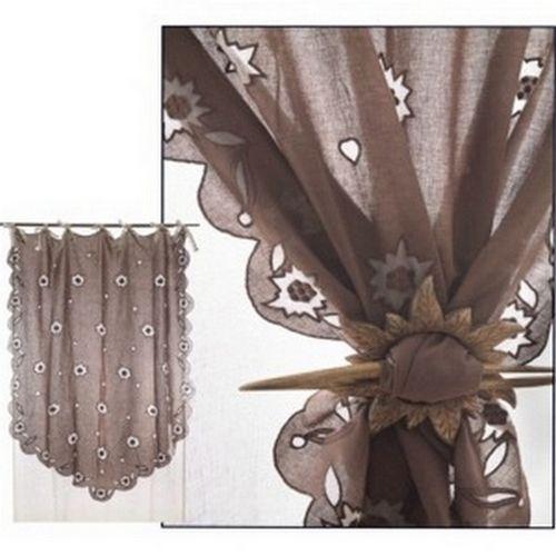 Rideau voile de lin dentelle edelweiss les sculpteurs du lac - Rideau voile de lin ...
